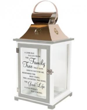 Family Tree Inspirational Lantern  in Snellville, GA | SNELLVILLE FLORIST