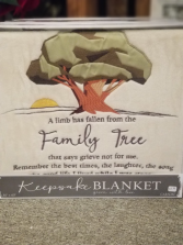 Family Tree Keepsake Blanket