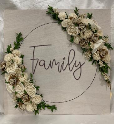 Family Wall Decor - Wood Flowers