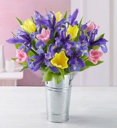 Fanciful Spring Tulip & Iris Bouquet Easter Arrangments