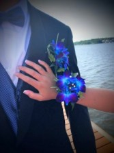 Fancy Blue Corsage and Boutonniere Prom or Wedding