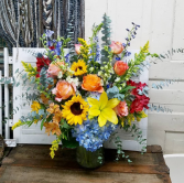 Fancy Fall Vase Arrangement