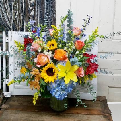 Fancy Fall Vase Arrangement