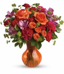 Fancy Free Bouquet HEV32-2A in Henniker, NH   HOLLYHOCK FLOWERS