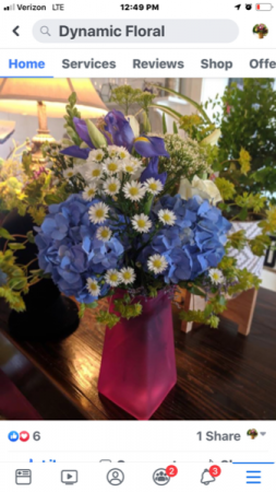 Fancy Fun Fun floral in blue, pink, green? You choose in Syracuse, IN | Dynamic Floral