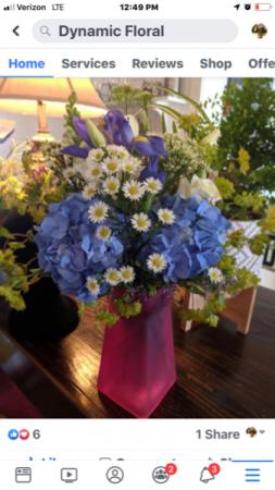 Fancy Fun Fun floral in blue, pink, green? You choose