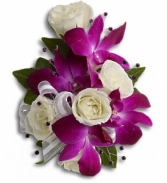 Fancy Orchids and Roses Corsage