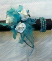 Fancy Petals Corsage Blue Flame