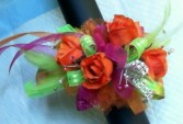 Fancy Petals Corsages Orange Tango