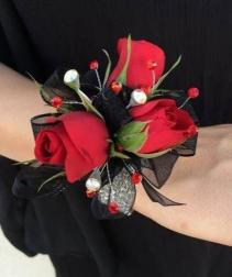 FANCY RED Prom Corsage