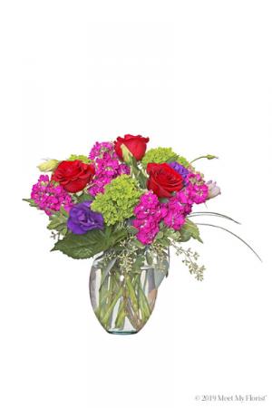 Fancy Vibrance Glass vase