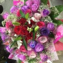 Fanstasy Roses Bouquet. Hong Kong Bouquet