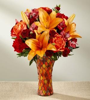 FANTASTIC FALL Vase arrangement in Longview, TX | ANN'S PETALS