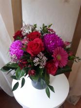 Fantastic Fuschia Vase Arrangement