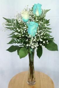 Fantasy Rose Bud Vase Rose Arrangement