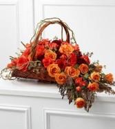 Fare Thee Well Arrangement Basket Mix Flowers