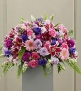 Fare Well Pink Casket Flowers