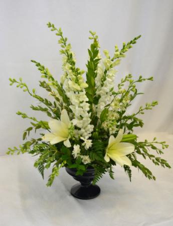 FAREWELL IN WHITE Flower Arrangement