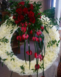 Farewell kisses  Funeral Wreaths