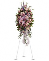FAREWELL STANDING SPRAY STANDING FUNERAL PC ON A 6' STAND