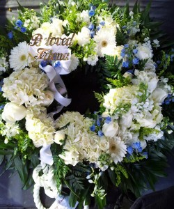 Farewell Wreath standing wreath in Northport, NY | Hengstenberg's Florist
