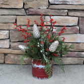 Farm House Christmas Arrangements