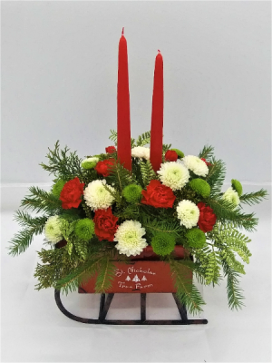 Farm Sleigh Candle Bouquet  Candle Bouquet  in Presque Isle, ME | COOK FLORIST, INC.