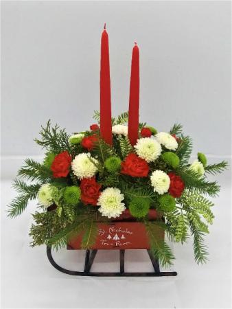 Farm Sleigh Candle Bouquet  Candle Bouquet