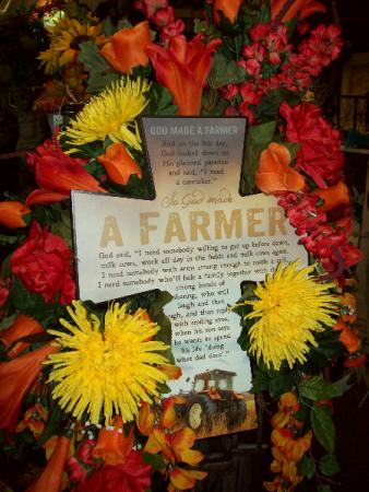 farmer everlasting silk easel sympathy