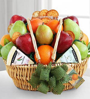 Farmers Market Fruit and Cheese Basket .WGG370-N
