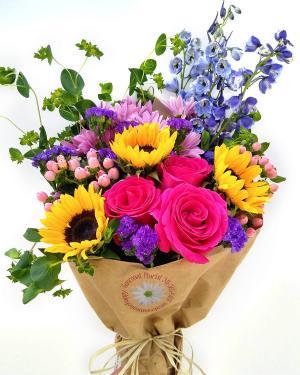 Farmers Market Wrap Wrapped Bouquet in Sarasota, FL | SUNCOAST FLORIST