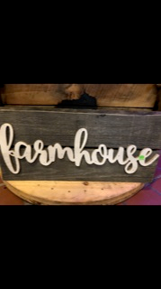 Farmhouse Barn-Wood Sign Custome gift item in Russellville, KY | Hickory Hill Florist & Garden Center