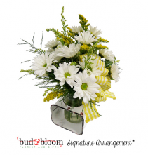 Farmhouse Daisy Jar Floral Arrangement
