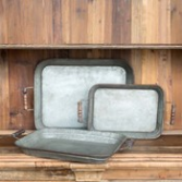 Farmhouse Metal Trays, Set of 3 Gifts