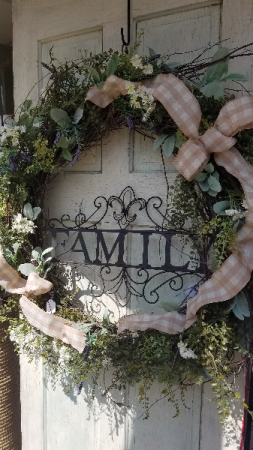 Farmhouse Wreath Gift Wreath