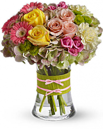 Fashionista Blooms vase arrangement