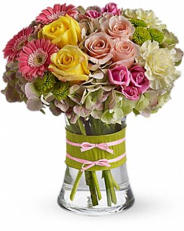 Fashionista Blooms vased arrangement