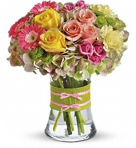 Cotton Candy Rose vase arrangement