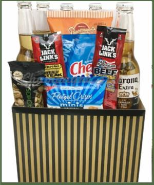 Dad's Favorite Beer and Snack Basket  in Arlington, TX | Erinn's Creations Florist