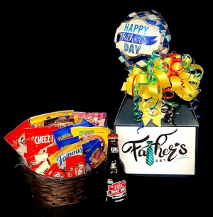 Father's Day Candy Bouquet Root Beer & Snacks in Plainview, TX | Kan Del's Floral, Candles & Gifts