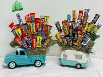Father's Day Deluxe Candy Combo Candy Arrangement
