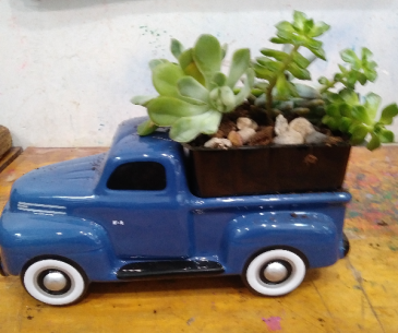 Father's Day FORD Truck Ford Truck with Succulents