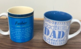 Father's Day gift idea  Assorted mugs