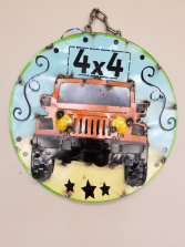 Father's Day Metal Jeep Sign