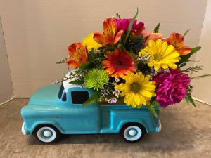 Chevy truck arrangement everyday in Osage, IA | Osage Floral & Gifts