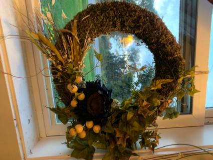 Faux Door Wreath