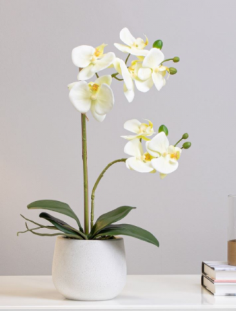 Faux Yellow Mini Orchid Silk Flowers