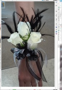 Feather Corsage Corsage