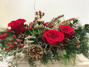 Feathered Blessings medium box arrangement in Northport, NY | Hengstenberg's Florist