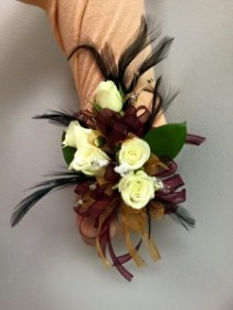 Feathers and More Prom Corsage